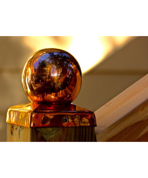"""(3-5/8"""") Nominal 4x4 Copper BALL Fence post ..."""