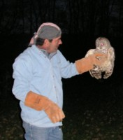 Robert & Jason releasing Barred Owls
