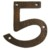 Hand hammered copper numbers