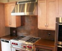 Copper Backsplash