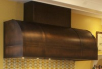 Barrel Range Hood with stack