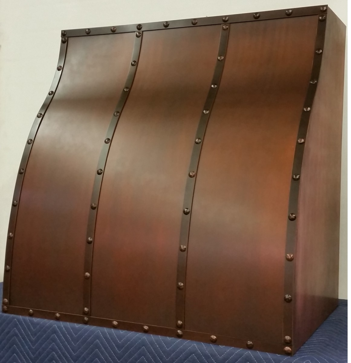 Copper range hood, New Castle design, made in USA