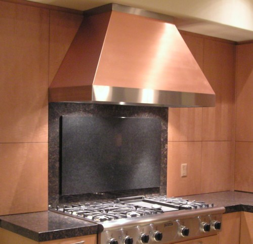 Contempo Copper Range Hood Handcrafted In Usa By The