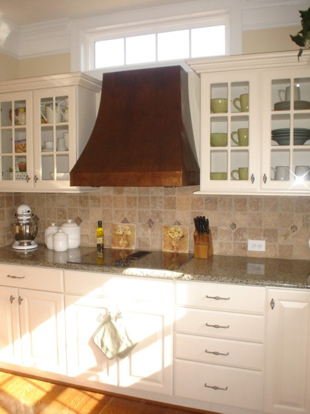 Crescent Copper Range Hood - handcrafted in USA by The