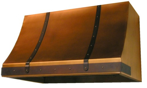 Hand rubbed copper hood