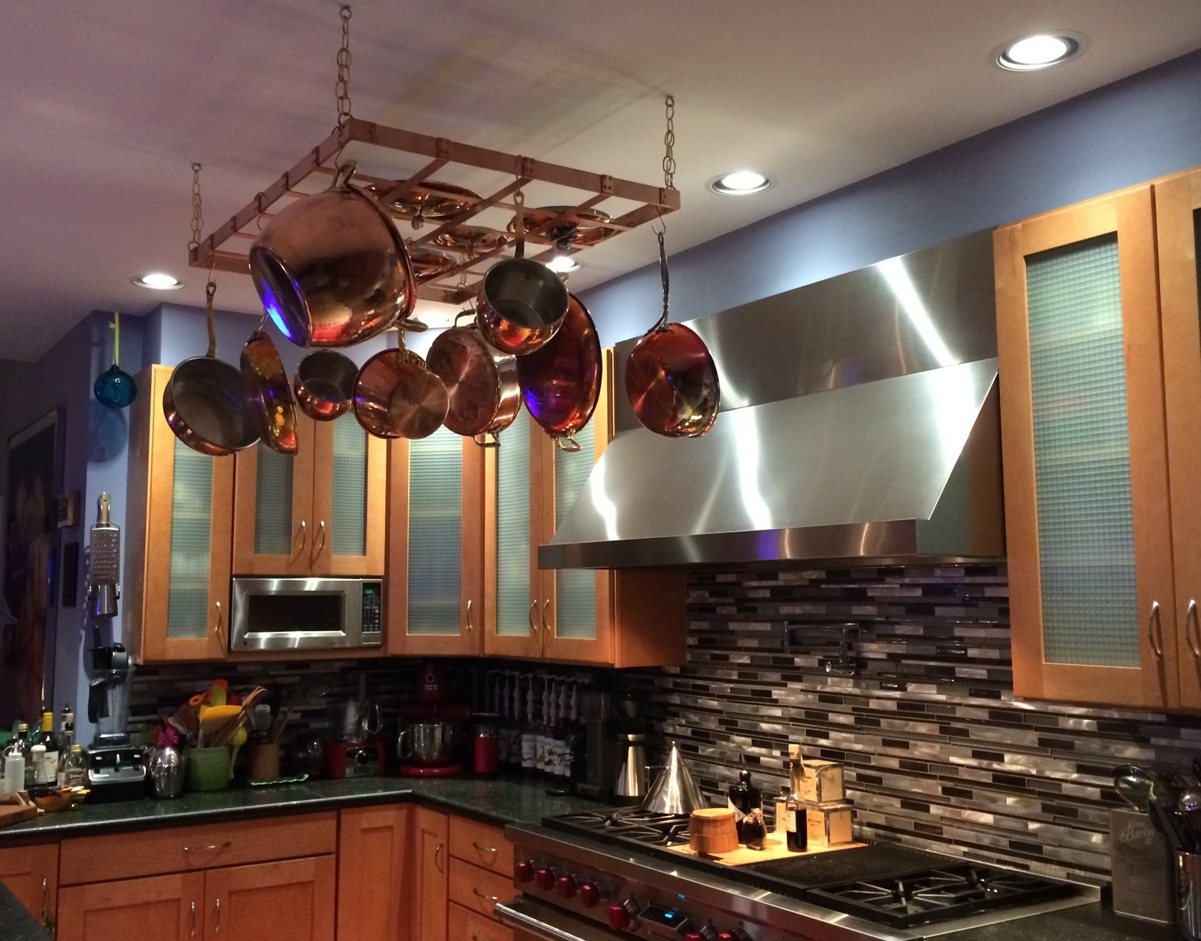 Pro Grade Copper Pot Rack, Heavy Duty