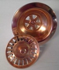 Copper drain for sink